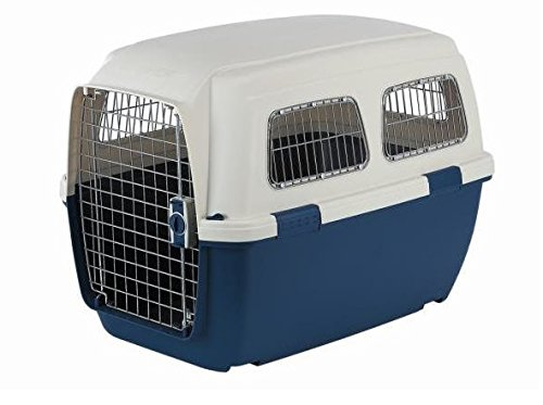 Marchioro Clipper Ithaka 4 Pet Carrier, 27.75-inches, Tan/Blue (Marchioro Pet Carriers)