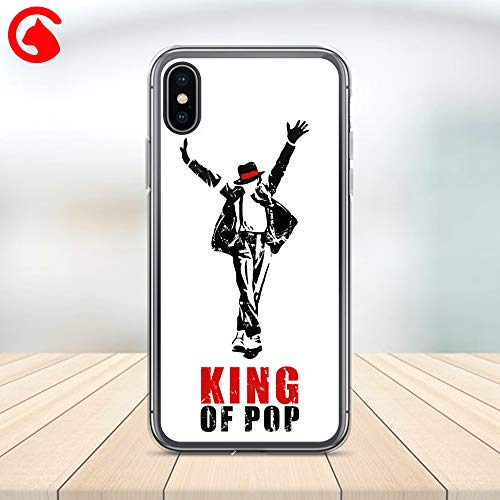 CatixCases Michael Jackson King of Pop Phone Case Cell Plastic Сlear Case for Apple iPhone X/XS/XR/XS Max / 7/8 / plus iPhone 6 / 6S plus Protector Protective Cover Art Print Design -