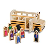 Melissa & Doug Wooden School Bus (Classic Toy Play Set, 7 Play Figures)