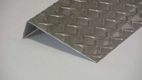 Aluminum Diamond Plate Angle .062 x 1.5 x 5.5 x 48 in. Offset UAAC (1pcs) | (1/16 x 1-1/2 x 5-1/2 x 48 in.) by UAAC