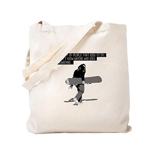 (CafePress Snowboarder Natural Canvas Tote Bag, Cloth Shopping Bag)