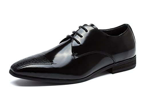 OPP Mens Retro Leather Dress Shoes Smooth Formal Shoes Brand Designer Black 4R4jZCH5bR