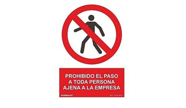 Señal Prohibido El Paso Persona Ajena PVC 40x30 cm Rojo ...
