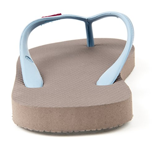 Fair Eco Blue Natural Flops Flip OLLI for Bay Vegan Trade Iron Friendly Grey Women Rubber amp; Caribbean 18wIxw