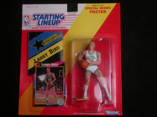 1992 Larry Bird Starting Lineup Figure with Poster and Collector Card