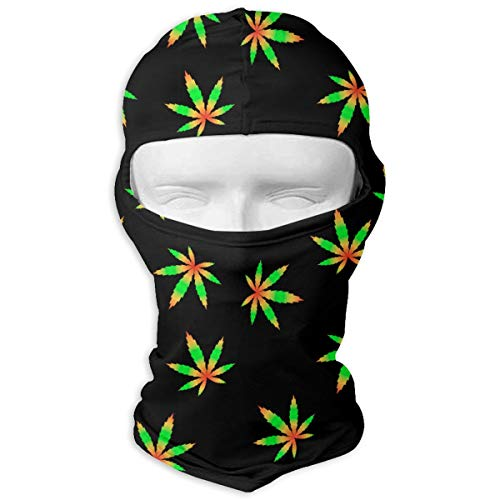 UV Protection Face Mask for Cycling Outdoor Sports Full Face Masks Marijuana Flag Colour Hill Balaclava Hood Skullies White -