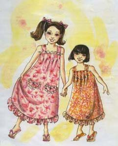 Child's Hawaiian Muumuu Dress Sewing Pattern #106