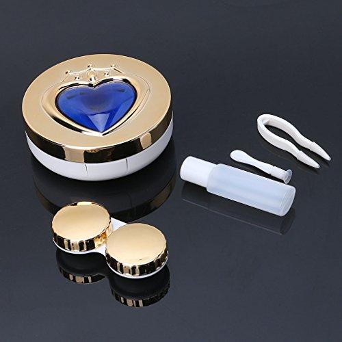 Avec Boîte Miroir Voyage 6 Stockage De Conteneur 1 Lentilles Coeur Portable Contact Zoomy À YR07WC0