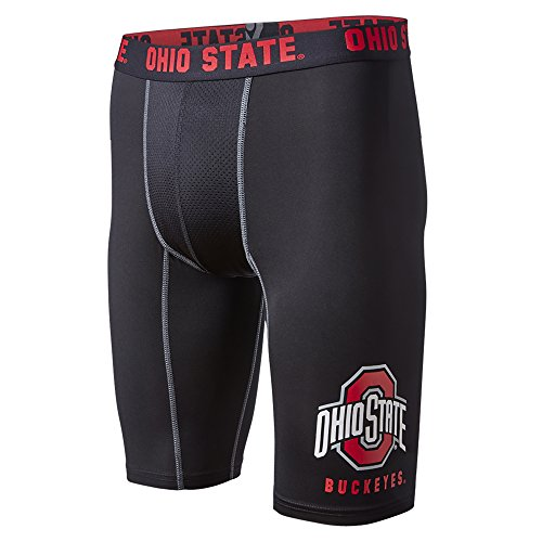 - FANDEMICS NCAA Ohio State Men's Compression Short, Men's Large (36-38)