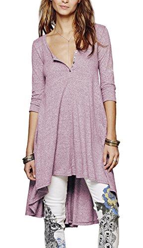 Women's Half Sleeve High Low Loose Casual T-shirt Top Tee Dress (X-Large,...