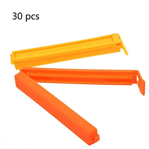 BeautyMood Sealing bags Clip - 30 pcs Colorful Plastic Sealing Bag Clips?Assorted Colors, Assorted Sizes