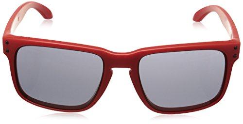Sole matte Nero fire Rosso Da Iridium Occhiale Oakley Red qvECw44