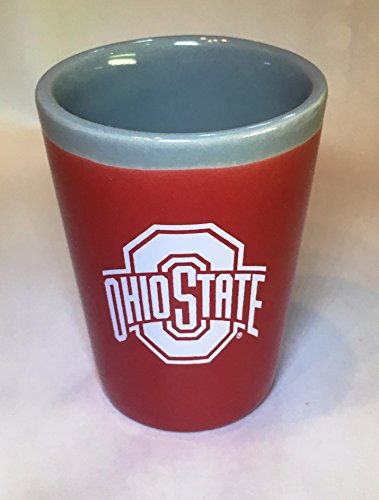 Ohio State Buckeyes Two Toned Ceramic Shot Glass