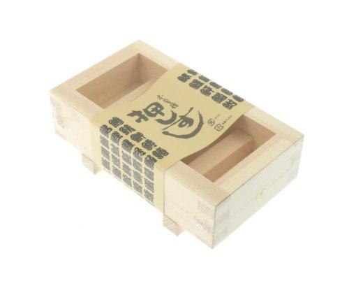 Kotobuki Oshizushi Wood Rectangular Sushi Mold by Kotobuki