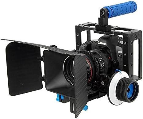 Khalia-Foto - Carcasa para cámara réflex (incluye foco y visor ...