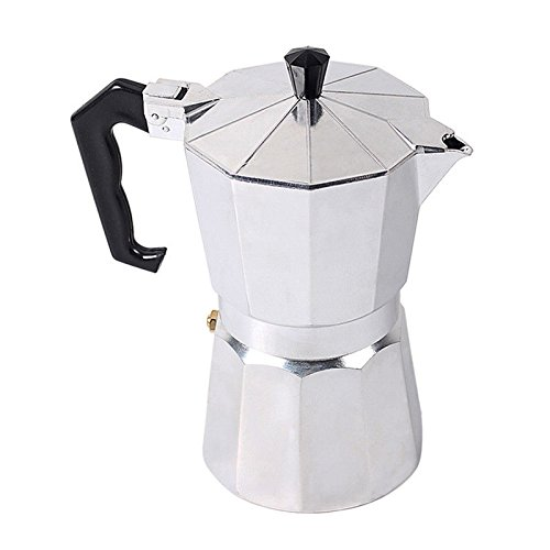 - Aluminium Coffee Moka Percolator Classical Continental 3 In 1 Espresso Maker Stove Top Pot 1/3/6/12 Cup (1 Cup - 50ml)