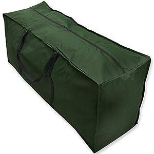 Bolsa de Almacenamiento, Impermeable Cojín Bolsa con Asas Resistentes para Muebles Estuche, Grande Funda de Tela Oxford de Viaje para Acampar de Transporte Ligera con Cremallera (116 * 47 * 51cm)