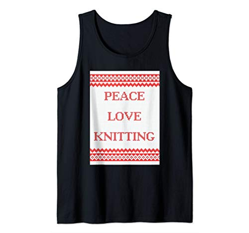 Peace Love Knitting Tank Top ()