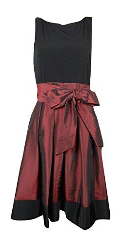 SALLY LOU FASHIONS SL Fashions Womens Taffeta Knee-Length Cocktail Dress Black 8