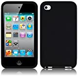 APPLE IPOD TOUCH 4TH GENERATION SOFT SILICONE SKIN CASE - BLACK