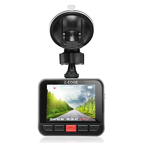 Dash Cam, Z-Edge Z1PLUS Car DVR Dashboard Camera, Full HD 2304x1296, 150 Degree Wide Angle with G-sensor, WDR Superior Quality Night Vision, 6-Glass Lenses, 2.7' LCD and 16GB Micro SD Card Included