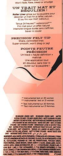 Benefit Cosmetics Roller Liner Matte Liquid Eyeliner in Black 0.03 FL OZ