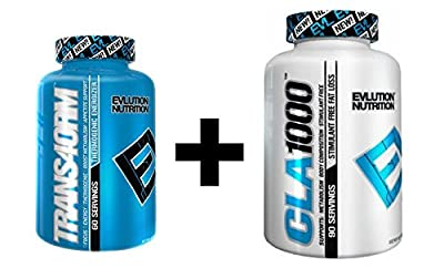 Evlution Nutrition EVL Trans4orm 120 Count + CLA 1000 90 Count Fat Loss Stack