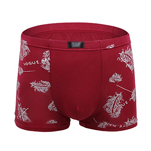 LINNUO Hombres Interior Impreso Slips Hipster Calzoncillos Trunk Ajustados Suave Bóxer Briefs Shorts Lclxhk