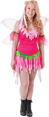 Fairytale Teenage Girl's Fancy Dress Halloween Party Pink Flower Fairy Costume -