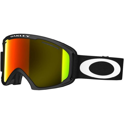 Oakley 59-084 02 XL Snow Goggle, Matte Black with Fire Iridium - Fire Oakley Goggles Iridium Ski
