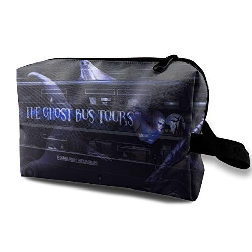 Cool Halloween Ghost Tour Bus Multi-function Travel Makeup Toiletry Coin Bag Case ()