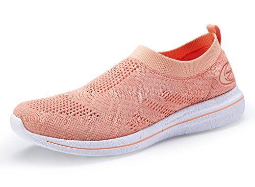 Walking Beach Loafer Women's Mesh Slip Shoes Casual White Orange On Sneakers Street Cqww8xYIZ