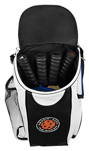 Amazin' Aces Premium Pickleball Backpack | Bag Features Pickleball Holder/Sleeve | Pack Fits Multiple Paddles | Convenient Pockets Phone, Keys, Wallet | Padded Back & Straps Added Comfort by Amazin' Aces (Image #1)