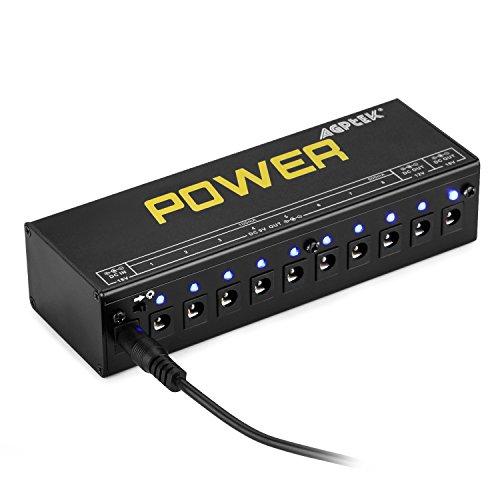 agptek cp 05 guitar pedal board power supply 10 output 9v 12v 18v effect pedals with short. Black Bedroom Furniture Sets. Home Design Ideas
