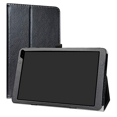 "Barnes & Noble Nook 10 (BNTV650) Tablet Case,LiuShan PU Leather Slim Folding Stand Cover for 10.1"" Barnes & Noble Nook 10 (BNTV650) 10.1-inch Android Tablet PC,Black"