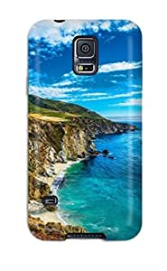 For Galaxy S5 Fashion Design Bridge Near The Beach Case-KKrArtC2571jrQWu