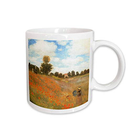 3dRose Poppy Field At Argenteuil by Claude Monet, 1873 Ceramic Mug, 11-Ounce ()