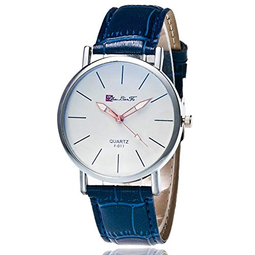Cristal Azul Vida Micro Reloj Impermeable Noble Hombres y Mujeres Pareja Mesa F-011 Bambú