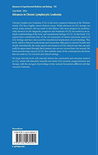 Advances in Chronic Lymphocytic Leukemia (Advances in Experimental Medicine and Biology)