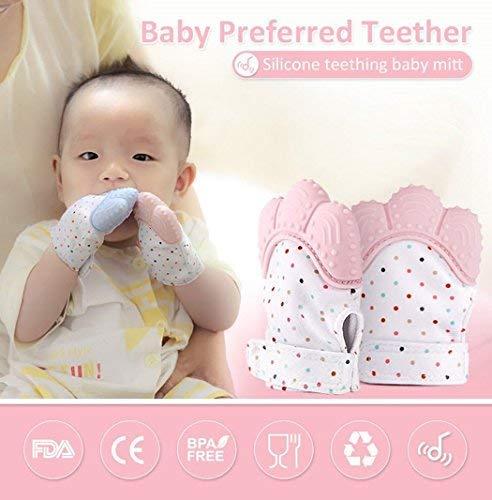 soyar Multicolor Baby dentición Manoplas, Pain Relief tranquilizadora de edad 3 - 12 meses protege manos bebés de salvia & kauen copias ajustable ...