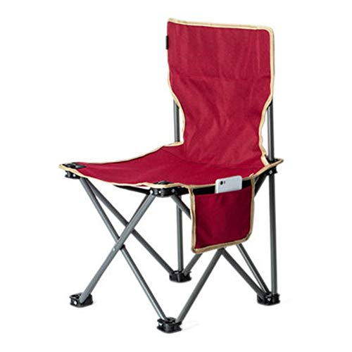 Sillas plegables de exterior Mini silla plegable portatil Ligera for acampar Senderismo Taburetes de pesca de viaje Silla plegable Estructura resistente Silla for adultos con bolsa de almacenamiento B