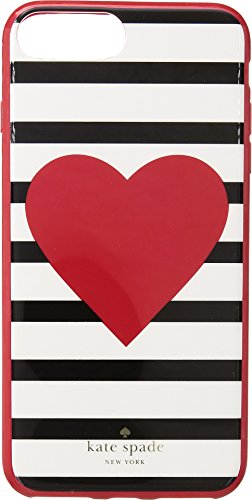 Womens Plus Hearts (Kate Spade New York Women's Heart Stripe Phone Case for iPhone 7 Plus/iPhone 8 Plus Multi One Size)