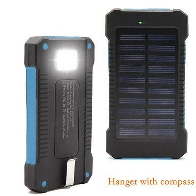 New USB Solar Power Bank 300000mah Portable External Batt...