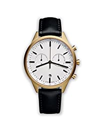 UNIFORM WARES C41 Swiss Quartz Stainless Steel and Black Leather Watch