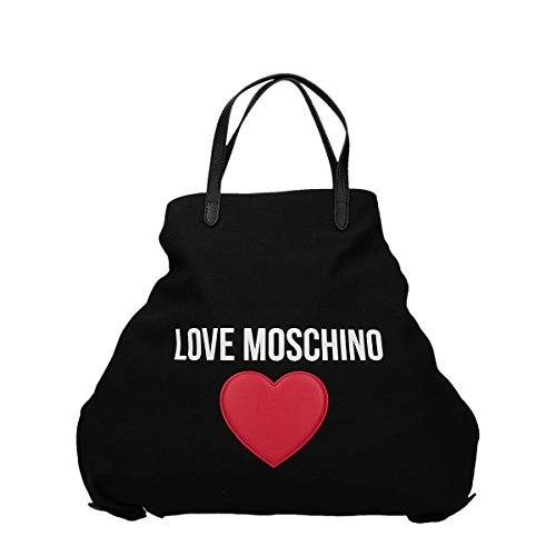 Love Moschino & Shopping Bag Cuore Trasformabile In Zaino Nero