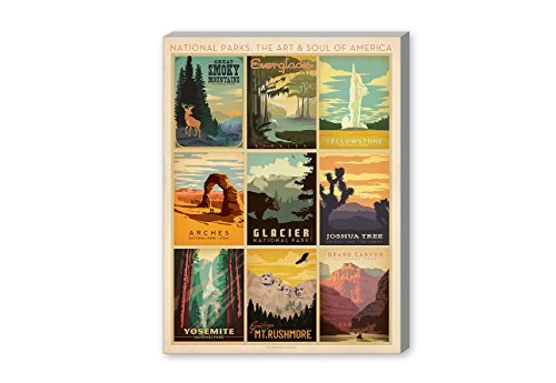 Americanflat National Park Multi Print' Gallery Wrapped canvas Artwork by Joel Anderson 20 X 24 X 1.5 [並行輸入品]   B07GZH6K5D