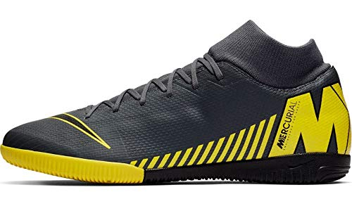 Nike Superfly 6 Academy IC Mens (12 D US) Grey/Yellow