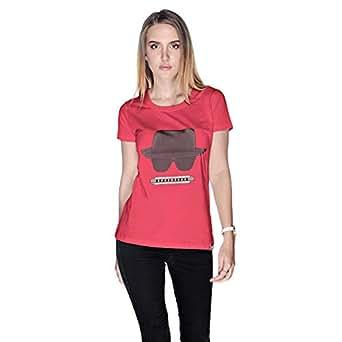 Creo Beach Hat Glasses T-Shirt For Women - S, Pink