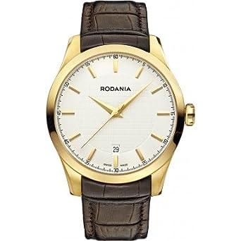 Rodania Swiss Herren-Armbanduhr Nolan Analog Quarz Leder RS2506830