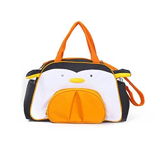Pingüino Naranja multifunción tres series de nuevos modelos animales de hombro diagonal del paquete de productos para bebés del niño del bolso bolso de la madre de la mamá